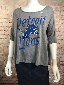 Junk Food Team Gear T Shirt Detroit Lions Large Slouch T-shirt NWOT
