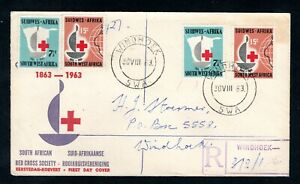 South West Africa - 1963 Red Cross Registered First Day Cover