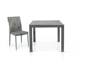 Extendable Table, Plan Glass 90X90