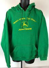 JOHN DEERE Pullover Hoodie Mens XL  Green Hooded Sweatshirt Long Sleeve Pocket