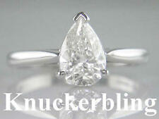 Pear White Gold VS2 Fine Diamond Rings