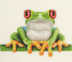 Tropical RED-EYED TREE FROG ~ Full counted cross stitch kit  *Fido Stitch