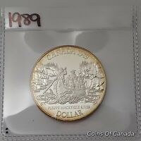 1989 Canada Silver Dollar UNCIRCULATED PROOF Coin Mackenzie River #coinsofcanada