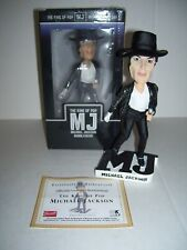 "2009 MICHAEL JACKSON TRIBUTE KING OF POP FUNKO BOBBLEHEAD CERAMIC 8"" MINT RARE"