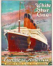 MILLVINA DEAN SIGNED RMS TITANIC 8x10 PHOTO 11 - UACC & AFTAL RD AUTOGRAPH