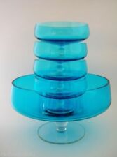 Blue Retro Art Glass