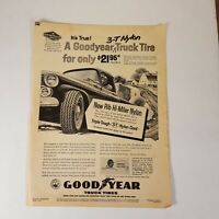 Vintage Goodyear Truck Tires 1958 Print Advertising Magazine Auto Parts Ad