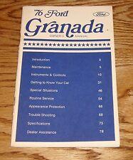 Original 1976 Ford Granada Owners Operators Manual 76