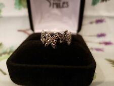 MARCASITE Butterfly STERLING SILVER Ring Beautiful free shipping classy nature