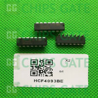 3PCS ST HCF4093BE DIP-14 QUAD 2-INPUT NAND SCHMIDT TRIGGERS