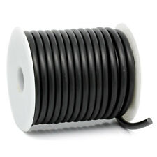 "1 Roll(10M) Black Rubber Beading Cord Jewelry Making 5mm Dia.( 2/8"")"