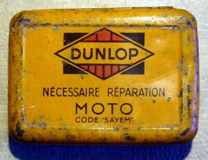 DUNLOP - BOITE ANCIENNE DE NECESSAIRE REPARATION MOTO
