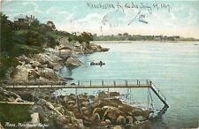 Manchester Massachusetts~Steps Uo to Long Dock to the Sea~1907 Postcard