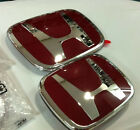 2Pcs JDM Red H Front+Rear Badge Emblems 2012-2016 HONDA Civic Coupe 2 Door