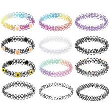 BodyJ4You 12PC Choker Necklace Set Colorful Flowers Stretch Elastic Jewelry