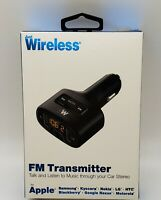 Just Wireless FM Transmitter with USB Charging Port BLACK