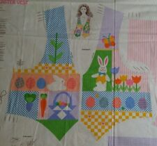 Easter Vest Fabric Cut & Sew Panel by V.I.P. DreamSpinners XS-S-M-L Tulips Bunny