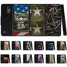 For LG K20 V / K20 Plus / K10 (2017) / V5 Leather Flip Wallet Case w/ Card Slots