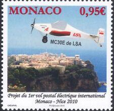 Mónaco 2010 Eléctrico Avión/Avión/vuelo de correo// transporte de aviación 1v (mc1103)