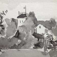 Karl Mattern Rare WPA Era Modernist Watercolor Double Sided Drawing Iowa Look!