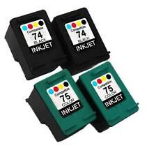 4PK FOR HP 74 75 HP74 HP75 CB335WN CB337WN DESKJET D4260 D4263 D4268 D4280 D4360