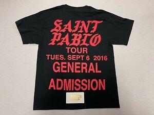 KANYE WEST YEEZY YEEZUS TOUR SAINT PABLO SS TEE SHIRT T SHIRT BLACK L LARGE