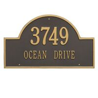 Whitehall Products Arch Marker House Plaque Address Number Estate Size wall 2L