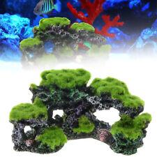 Aquarium Resin Coral Reef Rock Cave Moss Ornament Mountain View Fish Tank Decor