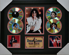MICHAEL JACKSON MEMORABILIA 4cd  FRAMED SIGNED LIMITED EDITION