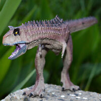 Movable Jaw Carnotaurus Solid Plastic Dinosaur Figure Toy Model Best Gift Kids
