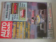**a Auto Hebdo n°681 Renault Alpine / BMW Z1 Hartge / F1 GP du Canada