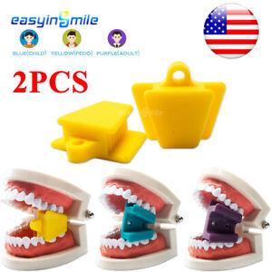 Autoclave Dental Silicone Bite Block Mouth Props 3sizes Children/Adult Use 2pcs