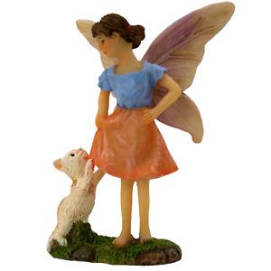 Fairy Garden Fairy Figurine Accessories - Fairy Ava & Kitten