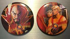 Flash Gordon Sci Fi Movie 2.25� Pin Button Set Sam J Jones Ming Merci 80s Queen