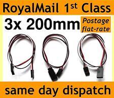 200mm Servo Extension Lead Cable de alambre para rc/futaba/jr / hitec/sanwa 20cm