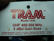 New UHF BASE ANTENNA 400 - 500 MHZ 5 DB GAIN 200 Watts HAM GMRS FRS