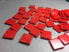New Lego 2x2 Tile Red 3068b Authentic Finishing Tiles (x50) Smooth Tiles