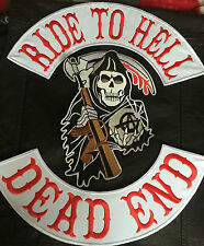 Ride to hell Dead End reaper backpatch set sans Blouson MC Motard Harley Chopper