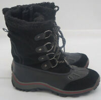 Pajar Leather Winter Snow Alina Duck Boots Women's  size 10 US Waterproof