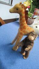 Alte Steiff Giraffe Samt und Affe