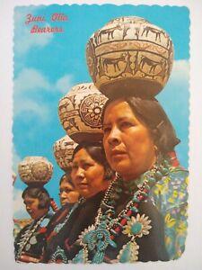 US Zuni Olla Bearers - Zuni Pueblo Postcard  New Mexico
