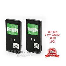 2 x EBP-51 EBP-51N Battery for ALINCO DJ-195 DJ-196 DJ-296 DJ-446 DJ-496 DJ-596