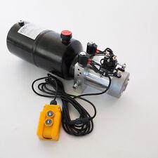 12 Volt Hydraulic Pump for Dump Trailer - 6 Quart Steel - Double Acting