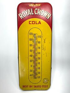 Royal Crown RC Cola Thermometer 1950s Nehi Taste Test Yellow Soda Pop WORKS