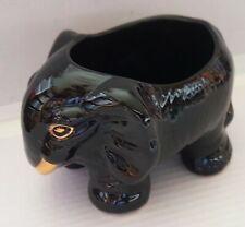 Keramik Blumentopf - schwarzer ELEFANT - Blumenübertopf
