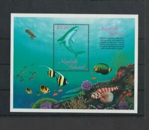 Norfolk Island 1998 Reef Fish M/Sheet MH per Scan .. Mint hinged