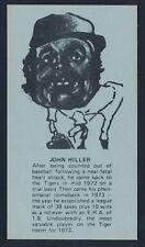 1974 Little Caesars Pizza SPORTS STARS -JOHN HILLER (Detroit Tigers) *Tough*