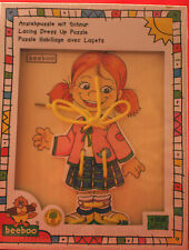 beeboo/ Anziehpuzzle mit Schnur/ Design B / Mädchen /ab 18 Monate+. OVP