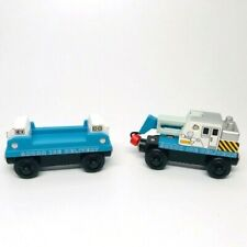 Thomas + Friends Wooden Trains Ice Crane + Ice Cargo Car