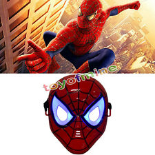 New spider man LED light up mask for party costume cosplay for kids toy